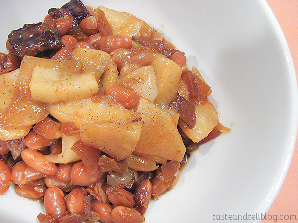 New England Baked Beans {Cookbook of the Month Recipe}