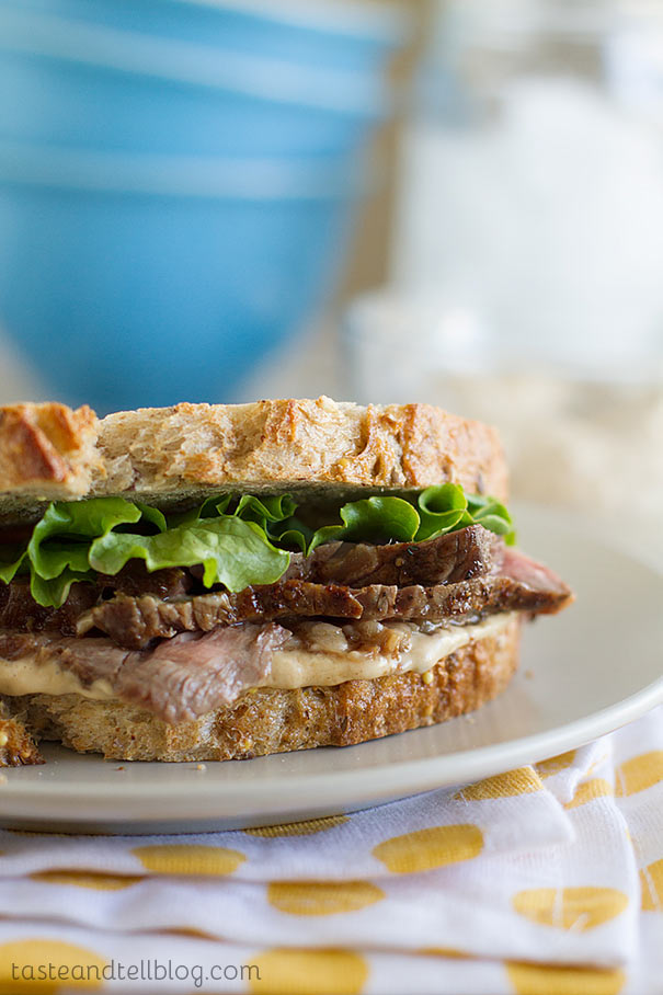 Steak Sandwiches with Worcestershire Mayonnaise on Taste and Tell