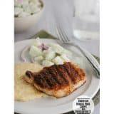 Barbecue-Rubbed Pork Chops & Cheddar Grits | www.tasteandtellblog.com #recipe #pork
