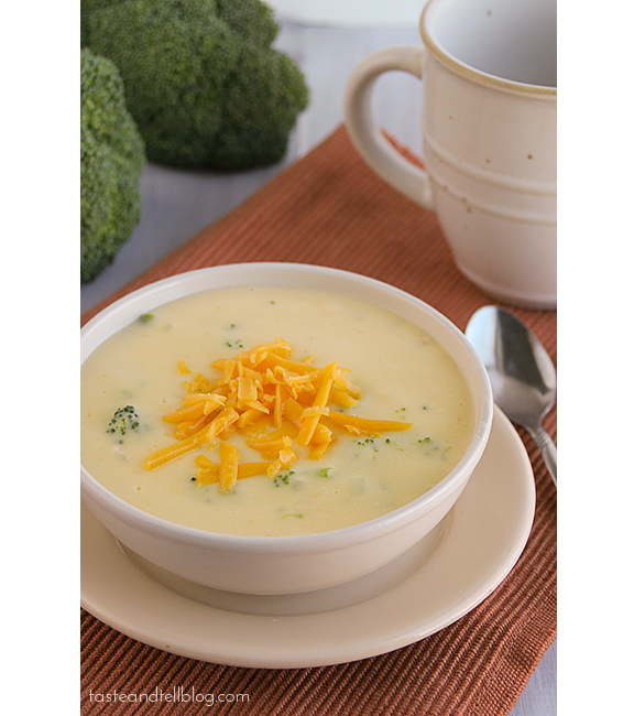 Broccoli Cheese Soup | www.tasteandtellblog.com #recipe #soup
