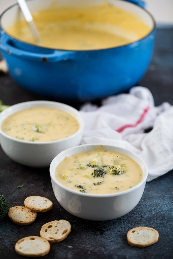 Broccoli Cheese Soup with Velveeta