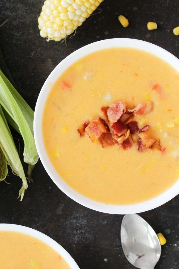 Corn Chowder with Bacon - make with fresh or frozen corn