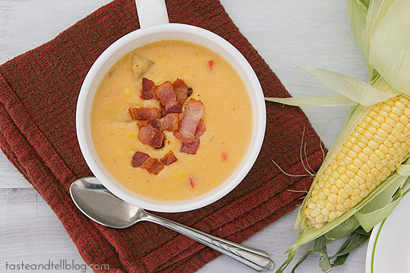 Corn and Bacon Chowder | www.tasteandtellblog.com