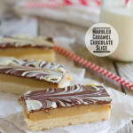 Marbled Caramel Chocolate Slice {Cookbook of the Month Recipe}
