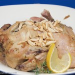 Slow Cooker Roasted Lemon Almond Cornish Hens