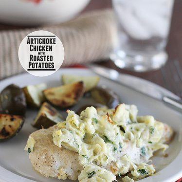 Artichoke Chicken with Roasted Potatoes | www.tasteandtellblog.com