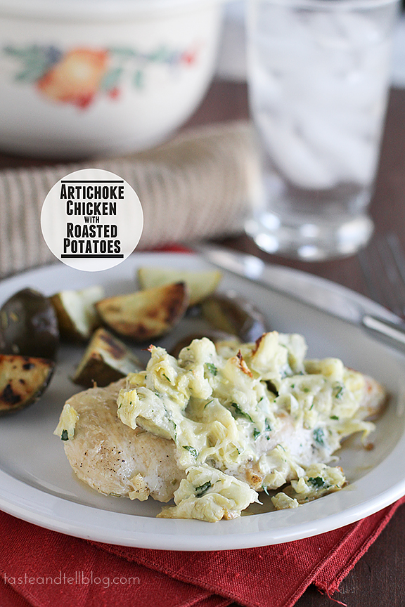 Artichoke Chicken with Roasted Potatoes