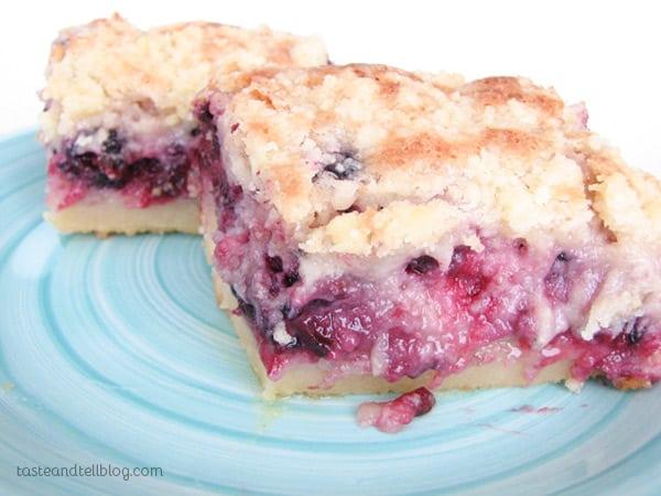 Blackberry Pie Bars on Taste and Tell