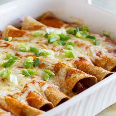 pan of Easy Enchiladas