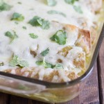 Recipe for Garlicky Bean and Chicken Enchiladas