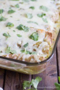 Recipe for Garlicky Bean and Chicken Enchiladas