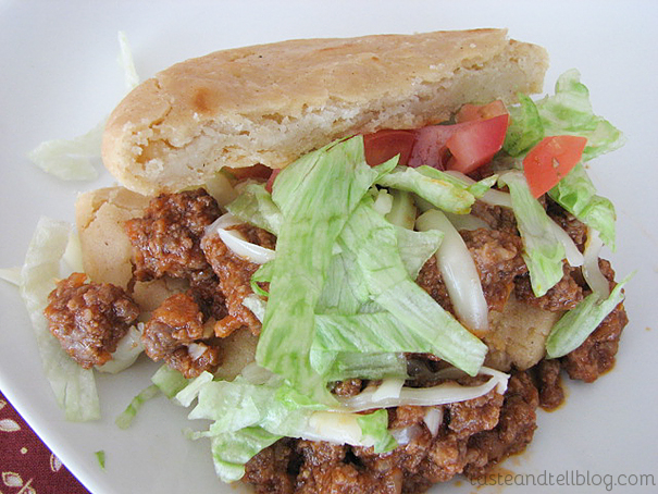 Ground Beef Gorditas {Cookbook of the Month Recipe}