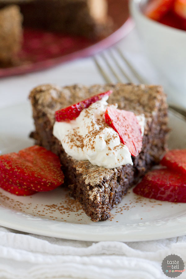 Italian Chocolate-Almond Flourless Cake - restaurant quality dessert at home.