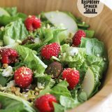 Red Raspberry Spinach Salad on Taste and Tell