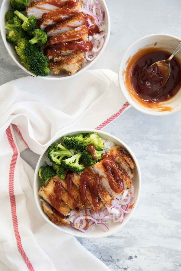 Sweet and Sour Pork Rice Bowls