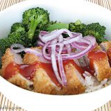 Sweet and Sour Pork Rice Bowl | www.tasteandtellblog.com