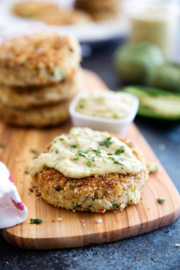 How to make Green Chile Crab Cakes with Tomatillo Salsa