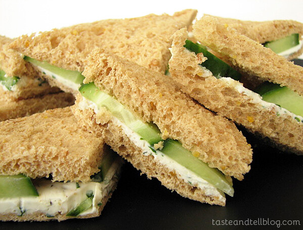 Herbed Goat Cheese Sandwiches from www.tasteandtellblog.com