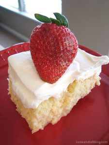 Tres Leches Cake from www.tasteandtellblog.com