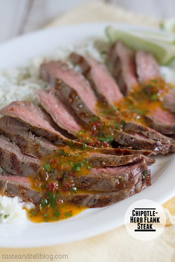Chipotle Herb Flank Steak on Taste and Tell