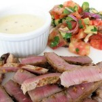 Mexican-Spiced Steak with Chipotle con Queso and Avocado Salad