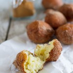 Easy Ricotta Doughnuts in Cinnamon Sugar