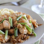 Stir Fry Chicken with Sesame and Leeks - an easy dinner recipe that is done in 30 minutes.