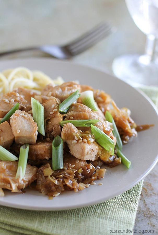 Stir Fry Chicken with Sesame and Leek