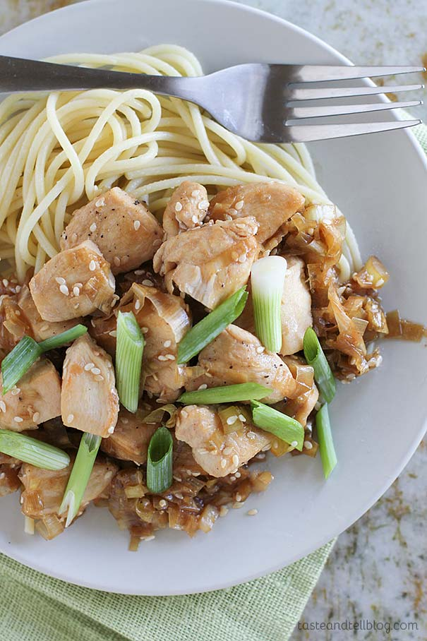 Stir Fry Chicken with Sesame and Leeks - a delicious and easy weeknight dinner idea.