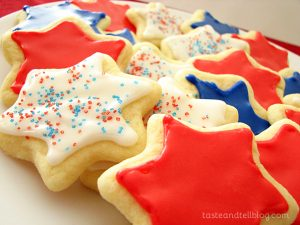 4th of July Cookies on www.tasteandtellblog.com