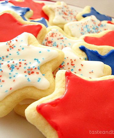 4th of July Cookies on www.tasteandtellblog.com