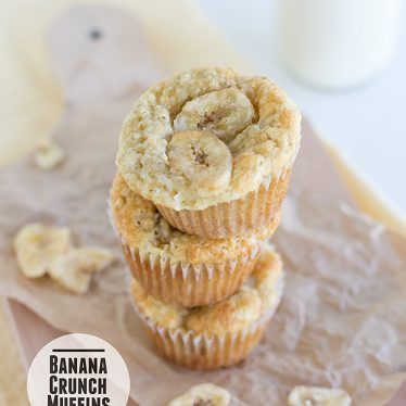 Banana Crunch Muffins   www.tasteandtellblog.com
