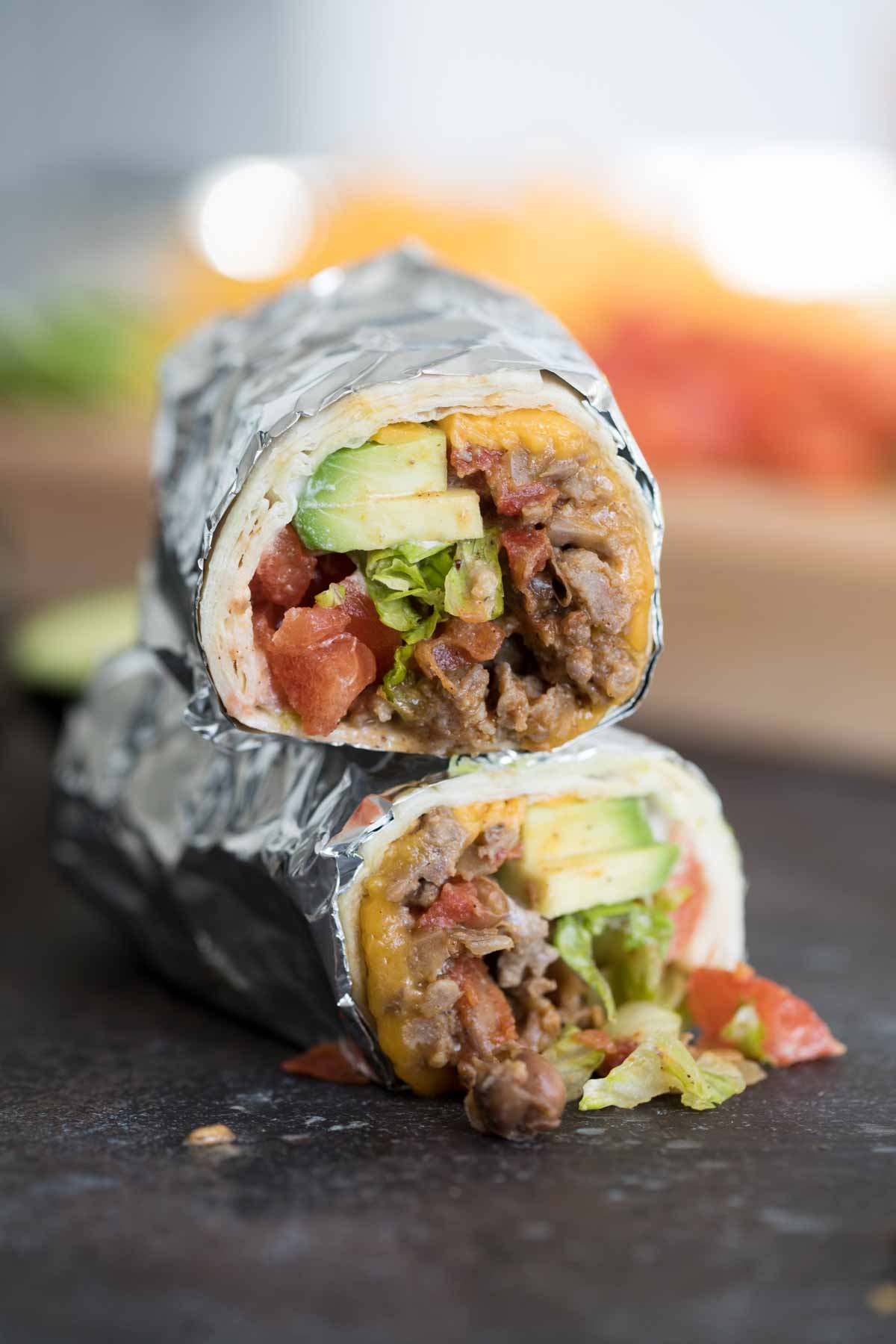 Easy Bean, Sausage and Beef Burrito Recipe - Taste and Tell