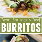 Easy Bean, Sausage and Beef Burrito Recipe