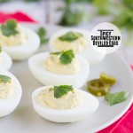 Spicy Southwestern Deviled Eggs on Taste and Tell