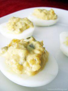 Spicy Southwestern Deviled Eggs from www.tasteandtellblog.com