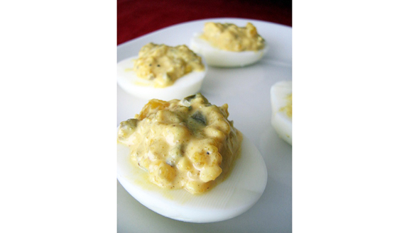 Spicy Southwestern Deviled Eggs | www.tasteandtellblog.com