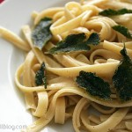 Brown Butter and Sage Fettuccine {Cookbook of the Month Recipe}