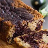 A change up from regular zucchini bread, this Chocolate Wave Zucchini Bread combines original zucchini bread with a swirl of chocolate zucchini bread down the center.