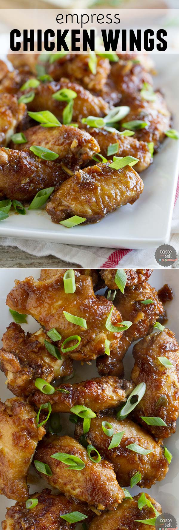 Serve your chicken wings with an Asian twist.  These Empress Chicken Wings are quickly marinated in a soy sauce and ginger marinade for a full flavored appetizer.