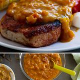 Spice-Rubbed Pork Chops with Mustard Bacon Barbecue Sauce Recipe