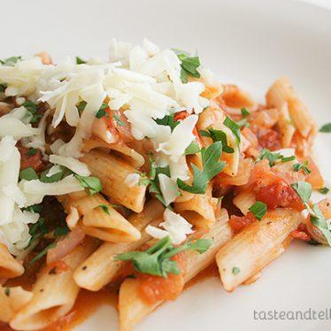 American-Italian all'Amatriciana on www.tasteandtellblog.com