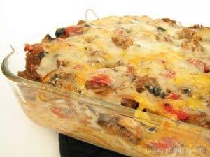 Baked Spaghetti on www.tasteandtellblog.com
