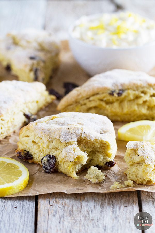 Lemon Scones with Nutmeg and Cherries