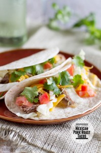 Slow Cooker Mexican Pork Roast Tacos on Taste and Tell