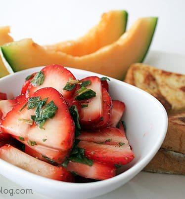 Strawberries and Mint | www.tasteandtellblog.com