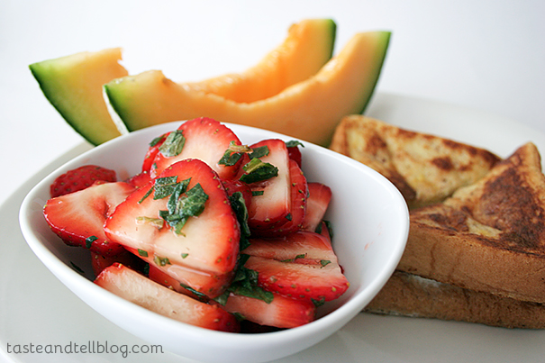 Strawberries and Mint   www.tasteandtellblog.com