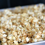 Baked Caramel Corn {Cookbook of the Month Recipe}
