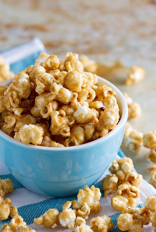 Baked Caramel Popcorn