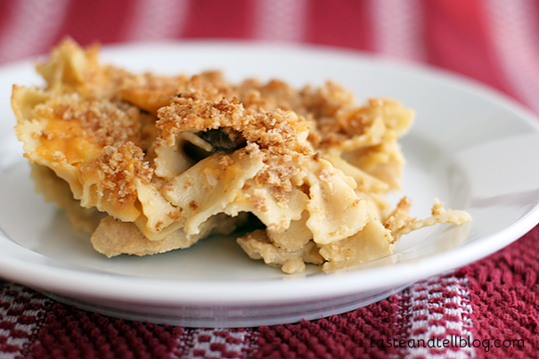Cheesy Chicken Tetrazzini | www.tasteandtellblog.com